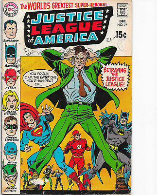 Justice League Of America #77 DC Comics 1960s Julius Schwartz VG+