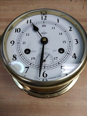 Swift Schatz West Germany Maritime Ships Bell Clock With Thermometer Rare Find
