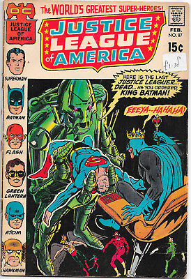Justice League Of America #87 DC Comics 1970s 1st appearance of Wandjina VG+