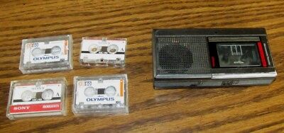 JC Penny's Micro Cassette Tape Recorder 681-6029  w/Recording Tapes TESTED