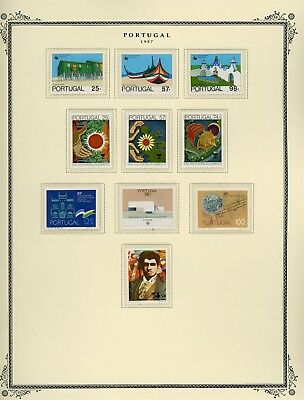 Portugal Scott Specialized Album Page Lot #132 - SEE SCAN - $$$