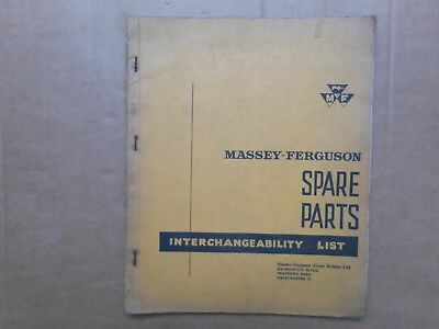 Massey Ferguson Interchangeability Parts List