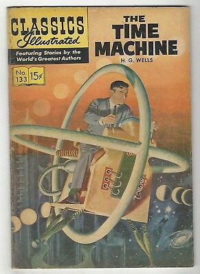 Classics Illustrated 133 (Hrn 158)! Vg- 3.5! The Time Machine!