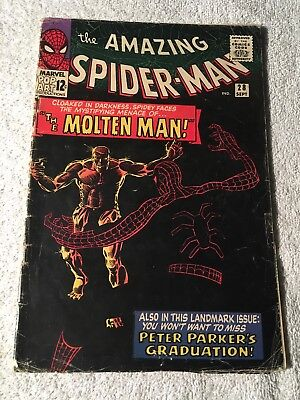 Amazing Spider-Man Silver Age Comic No. 28, Sept 1965 - Molten Man