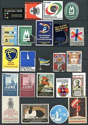 Worldwide Poster Stamps - Collection of 23 Diifferent Events         (#1458)