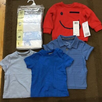 Boys Bundle Of Clothes 0-3 Months From F&F All Brand New, Bodysuits, Jumper Etc