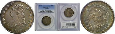 1819 Bust Quarter PCGS XF-45 Large 9