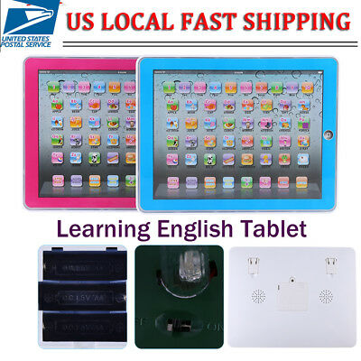 Baby Tablet Educational Toys Kids For 1-6 Years Toddler Learning English Gift QY