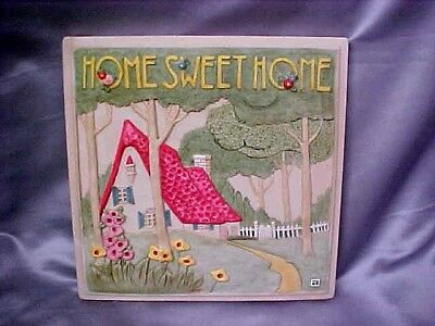 Mary Engelbreit HOME SWEET HOME 3 D  Plaque 12 X 12 lovely! EXC CONDITION
