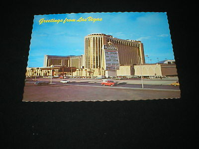 GREETINGS FROM LAS VEGAS <> Aladdin Hotel and Casino w/Big Names On Marquee PC