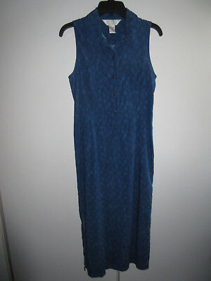 Petite Sophisticate Size 6 Blue Casual Long Sleeveless Dress