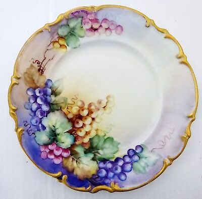 Antique Hutchenreuther Gelb Hand Painted Plate