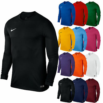 Nike Mens T-Shirt Long Sleeve Park Football Jersey Sports Training Top  All Size