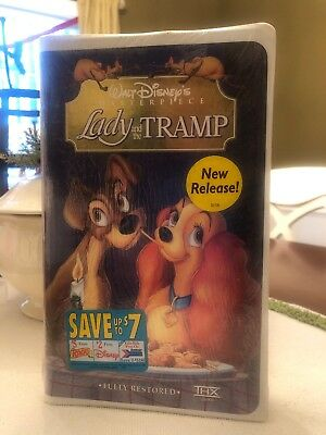 Walt Disney's Lady and the Tramp Fully Restored VHS Masterpiece- SEALED