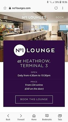 No1 Airport Lounge pass Heathrow Terminal 3