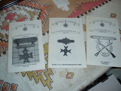 Three Issues Of Medal Collector On Marksman Badges