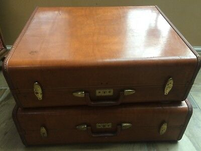 Pair of Antique Vintage Samsonite Suitcases
