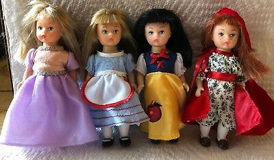 "Madame Alexander Storybook Alice Doll 2012 5"" Snow White Princess Lot Of 4 Dolls"
