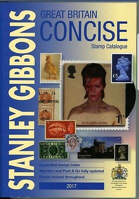 Unused but damaged Great Britain Concise Stamp Catalogue 2017 Stanley Gibbons.
