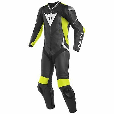 Dainese Laguna Seca 4 Perforated 1-Piece Suit Black/Yellow/White