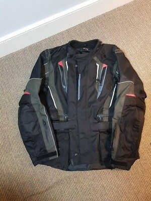 ARMR MOTO Men's Motorcycle Textile Biking Jacket Size XXL With Armour Pre Owned