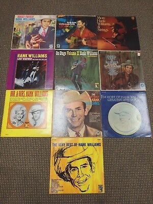 """LOT Of (10) HANK WILLIAMS 12""""/33 rpm Records Greatest Hits/Best Of VG-EX Vinyl"""