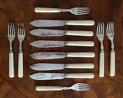 Antique Epns Fish Knives & Forks