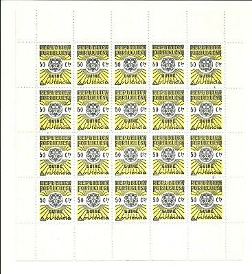 Guine-Bissau 1942 - Postal Tax, sheet x 20 sets MNG as issued