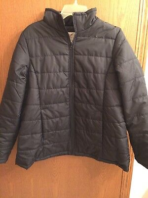 Black Maternity Puffer Coat, Size L