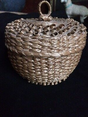 Early 1920's-30's Maine  Porcupine Basket