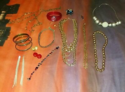 Joblot vintage costume jewellery brooches