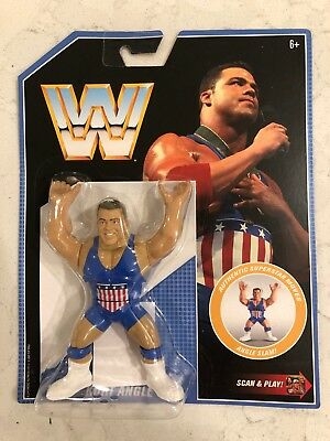 2019 WWE Mattel Retro Series 7 KURT ANGLE Action Figure WWF Hasbro MOC - NEW