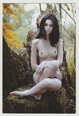 Postcard Pinup Risque Nude Stunning Girl Extremely Rare Photo Post Card 9155