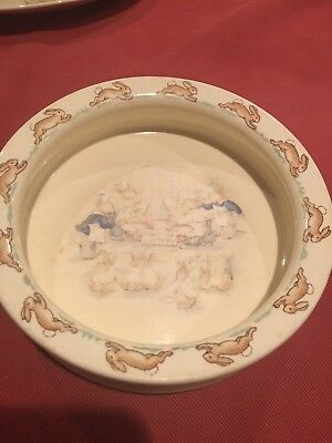 Vintage Royal Doulton Bunnykins TOAST FOR TEA TODAY English China 1960's