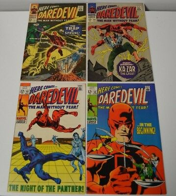 Daredevil 21 24 52 53 Higher Grade Marvel Silver Age Comic Lot