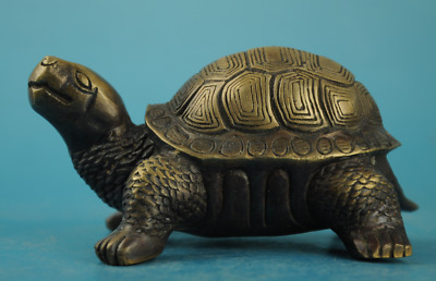 chinese old   copper Hand carving zoology tortoise sea Turtle statue/Q c01