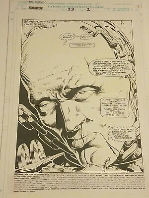 Robocop #23 Page 1 Splash Original Comic Art Marvel Last Issue 1992