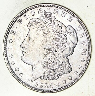 1921 - Morgan Silver Dollar - Last Year - 90% - US Coin *402