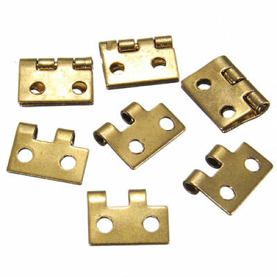 Mini Golden Metal Hinges For 1/12 House Miniature Cabinet Furniture 50/100pcs