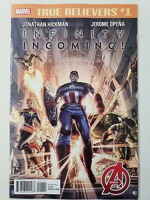 True Believers: Infinity Incoming #1 (2018) The Avengers! Jonathan Hickman! Nm