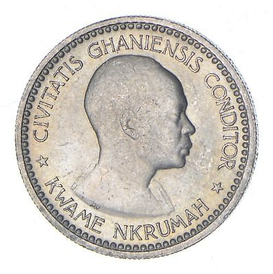 1958 Ghana 1 Shilling - Historic World Coin *057