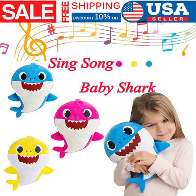 2019 Baby Shark Sing Song Pulsh Doll Toys PinkFong Soft Toy For kids baby Gift