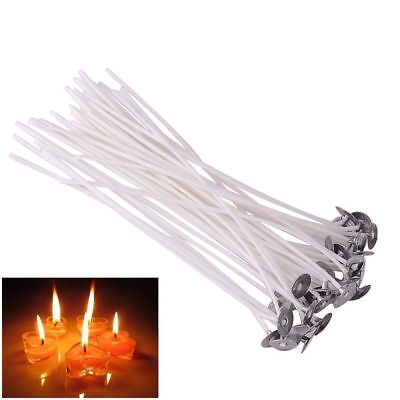 20/50/100PCS 8 Inch Candle Wicks Cotton Core Candle Making Supplies Pretabbed