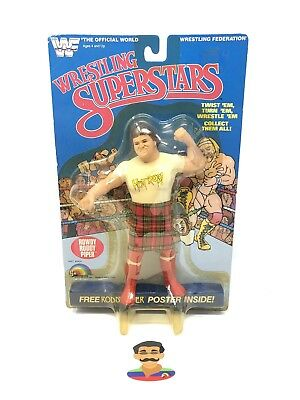 WWF LJN Wrestling Superstars 1984 Rowdy Roddy Piper Action Figure MOC RARE WWE