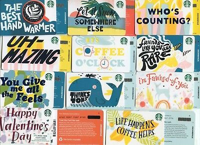 Complete Set 11 Backmarks Newest 2019  Starbucks  Recycled  Paper Gift Cards