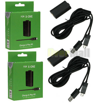 Lot 2 X For Official Microsoft XBOX ONE Play and Charge Kit Xbox One NEW US SHIP