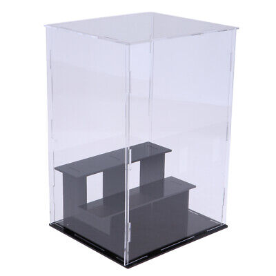 3 Tiers Clear Acrylic Display Case Box 21x15x16cm for Model Toy Collectibles