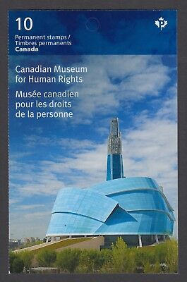 CANADA BOOKLET BK597 10 x 90c CANADIAN MUSUEM FOR HUMAN RIGHTS