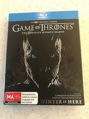 Game Of Thrones The Complete Seventh Season (MA) Blu-Ray Disc Free Postage