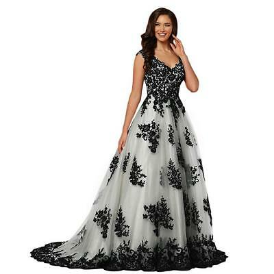 PLUS SIZE QUINCEANERA Prom Dresses V Neck Backless Sweep Train White ...